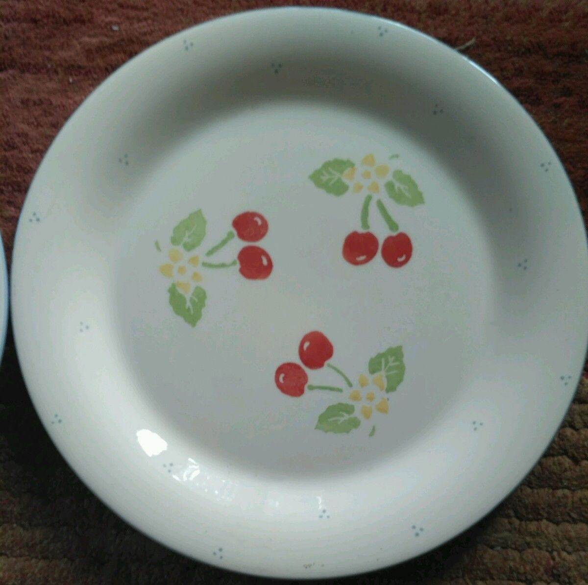 2 LAURA ASHLEY MORELLO CHERRY LARGE DINNER PLATE RED BLUE CREAM TABLEWARE : laura ashley dinnerware - pezcame.com
